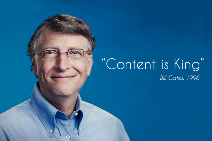 Content Marketing Can Help Your Business Drive Sales & Revenue -Content Is King -Bill Gates